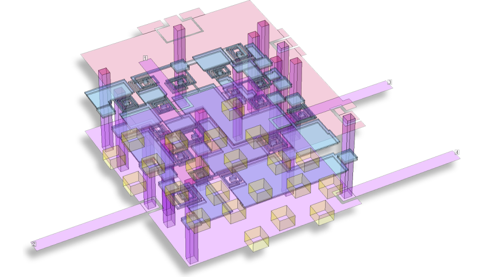 3D-View of LTCC circuit